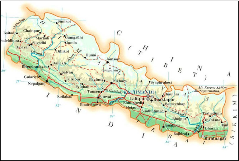 Where is Mount Everest | Location of Mount Everest in Nepal and Tibet