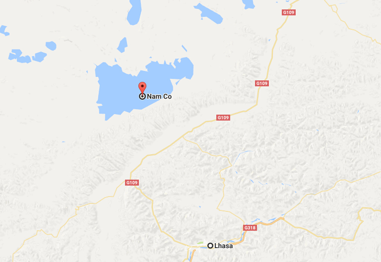 Namtso Location Map