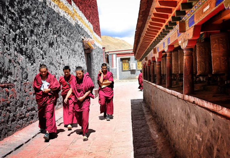 Young Monks in Sakya Monastery