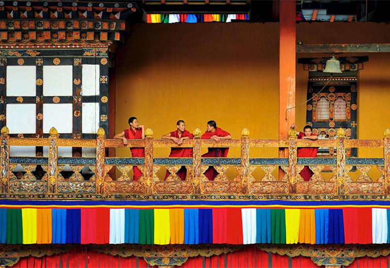 Bhutanese little monks in Kyichu Lhakhang