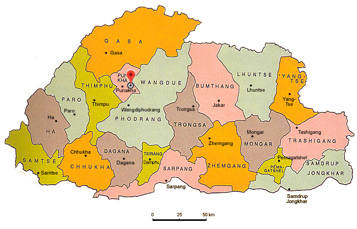 World Map Bhutan.Bhutan Maps Bhutan On World Map Bhutan Location Political