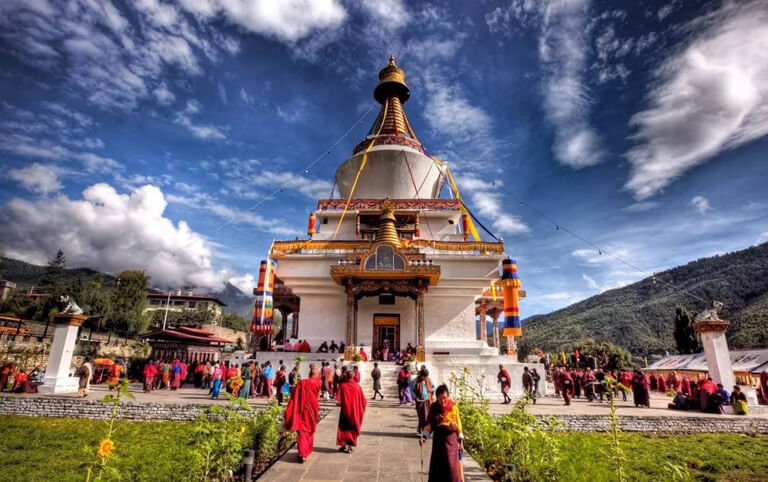 National Memorial Chorten - Holy Site in Thimphu