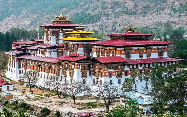 Grandiose Architectures in Punakha Dzong
