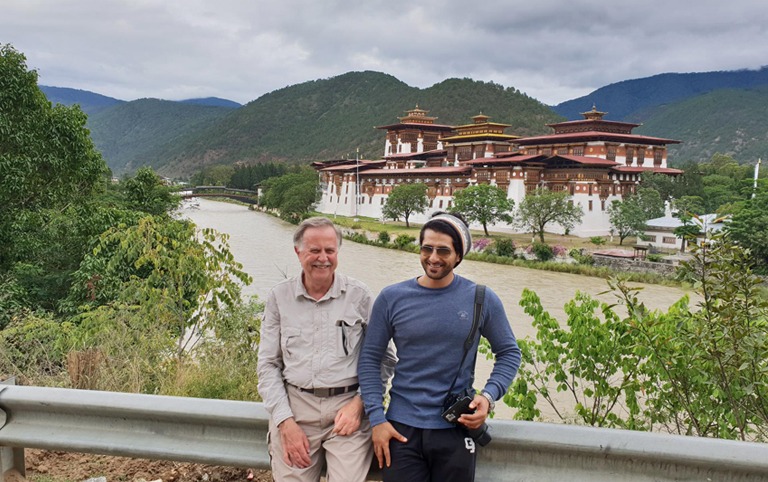 Richard and Hamad from USA visited Punakha Dzong with Tibet Discovery