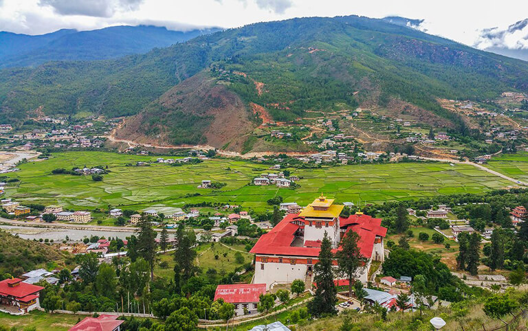 Seeing Rimpung Dzong from National Museum