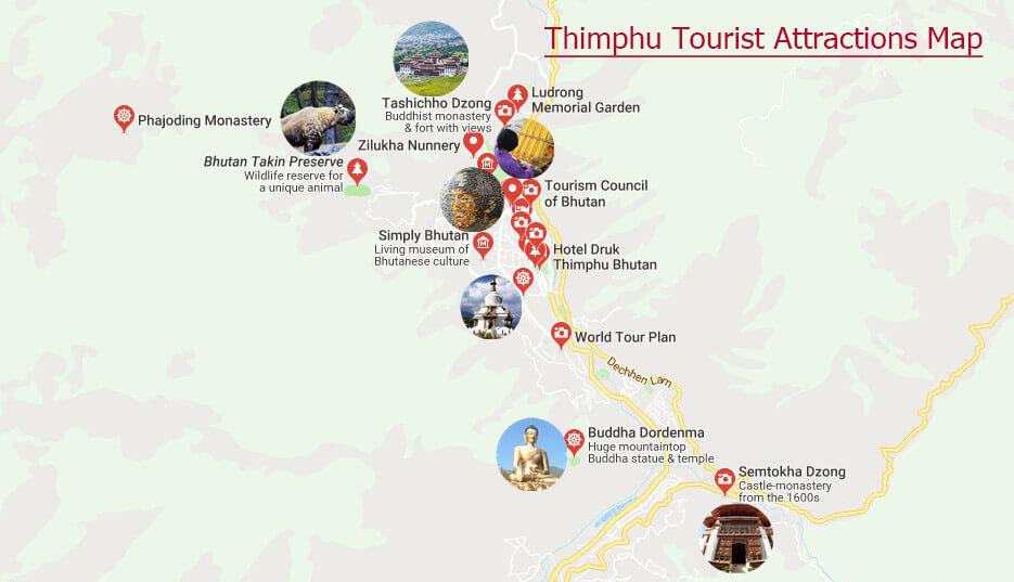 Maps of Thimphu Thimphu Map Thimphu Bhutan Map