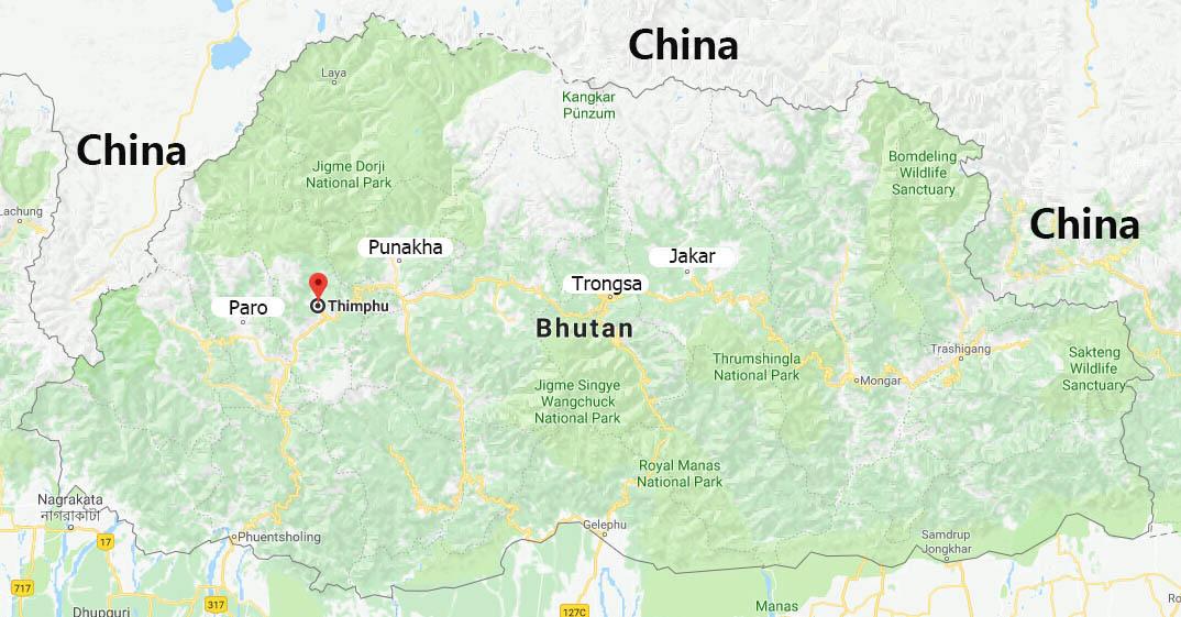 Maps of Thimphu | Thimphu Map, Thimphu Bhutan Map Map Of Bhutan on