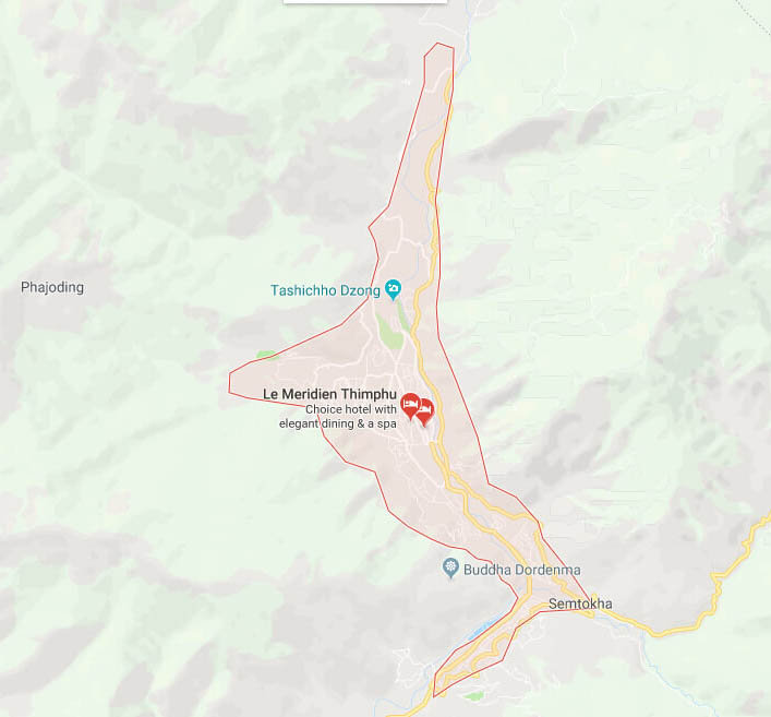 Maps of Thimphu Thimphu Map Thimphu Bhutan Map
