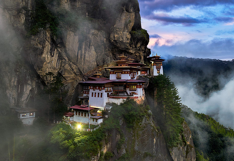 Takshang (Tiger's Nest) Floating in the Air