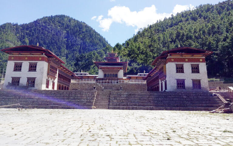 Lhakhang Karpo (White Temple) in Haa Valley