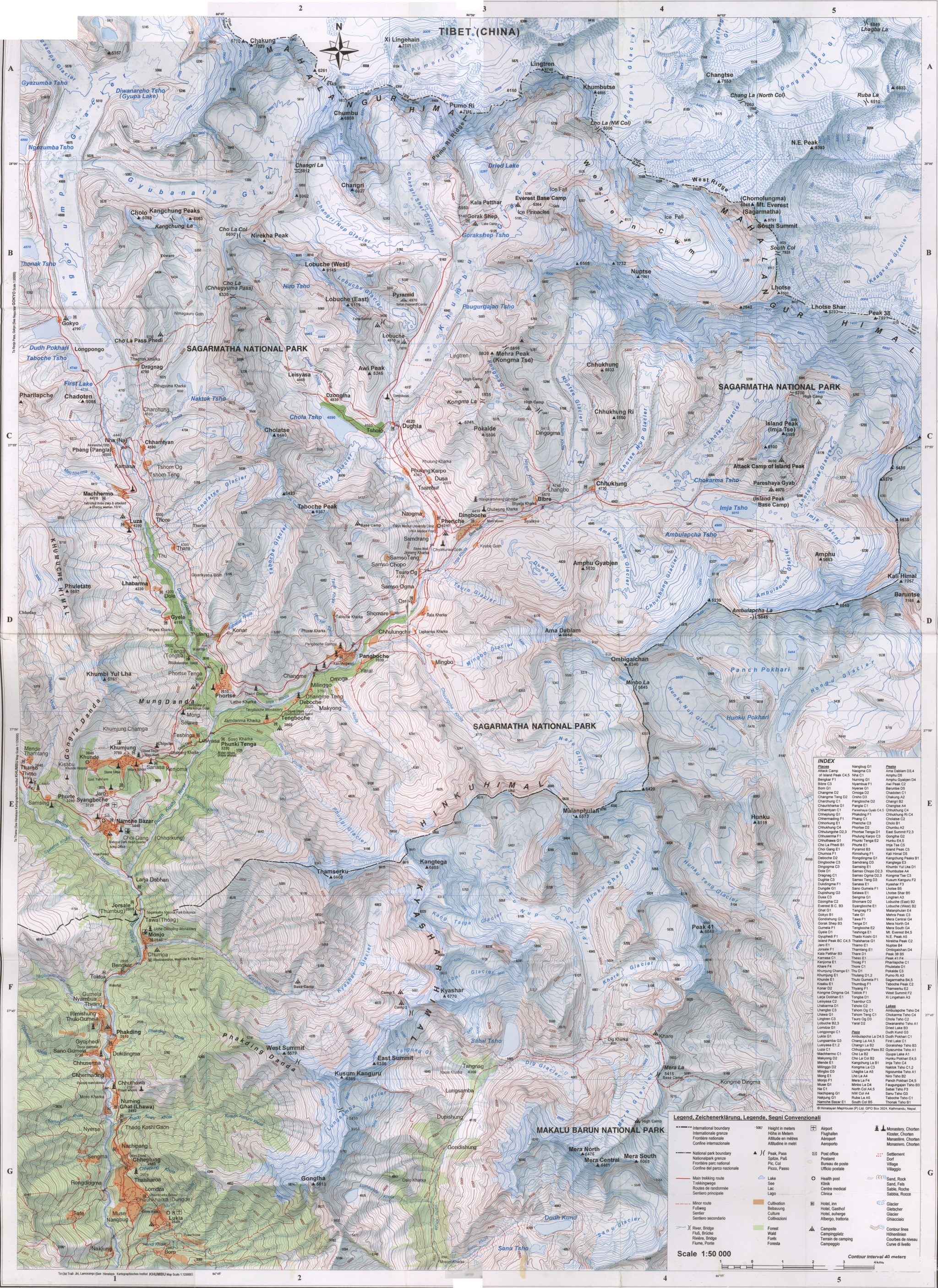 Where is Mount Everest ! Updated Mount Everest Maps of Location ...