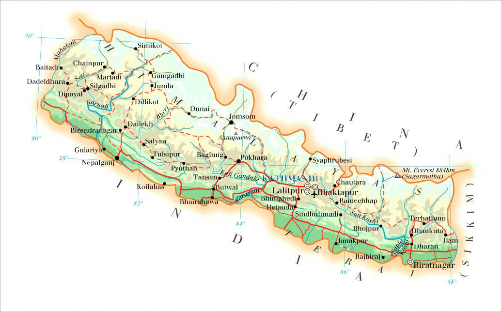 Where Is Mount Everest Updated Mount Everest Maps Of Location - Nepal location