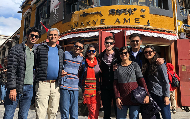 Aman's group from USA enjoyed their Barkhor Street visits