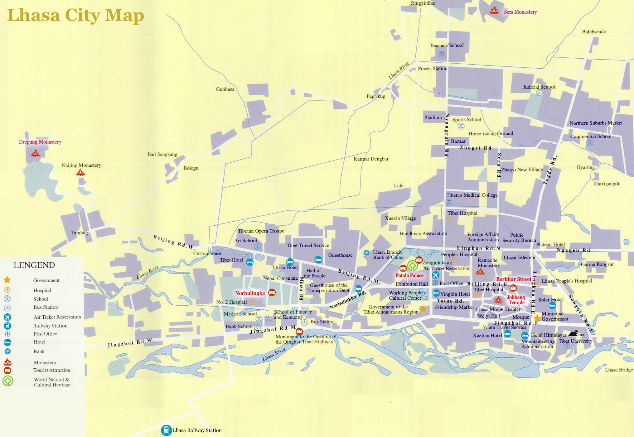 Lhasa City Map 2017 2018 Map Of Lhasa City Lhasa Map