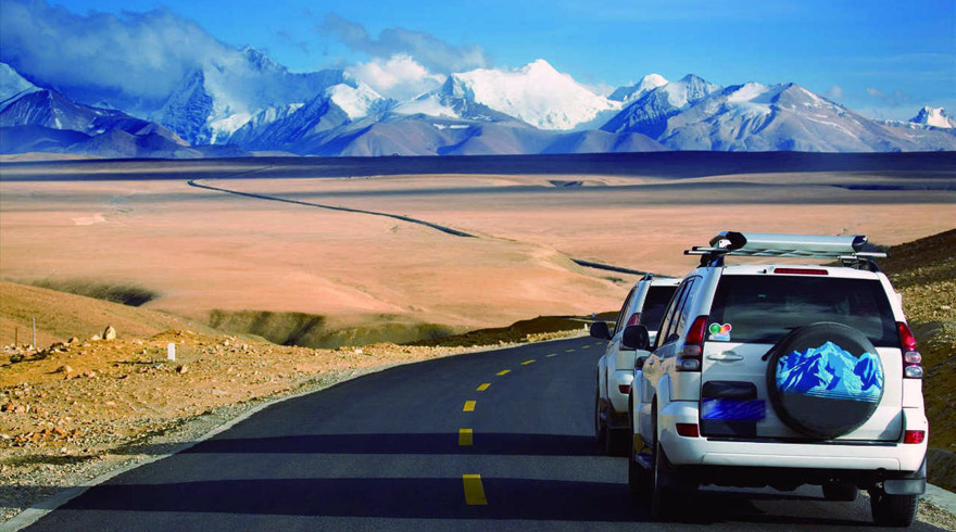 Driving to the World's Highest Peak from Lhasa - Mount Everest