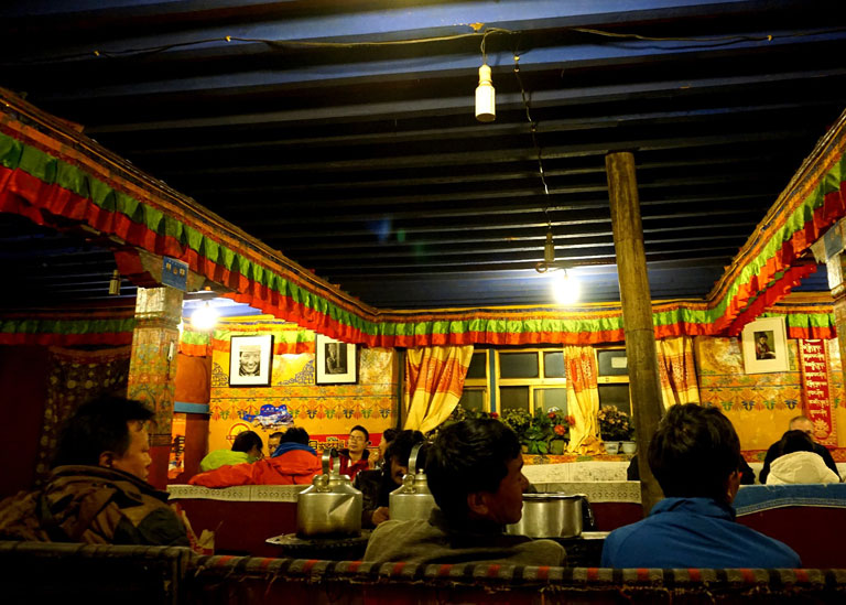 Dining Room of Rongbuk Monastery Guesthouse