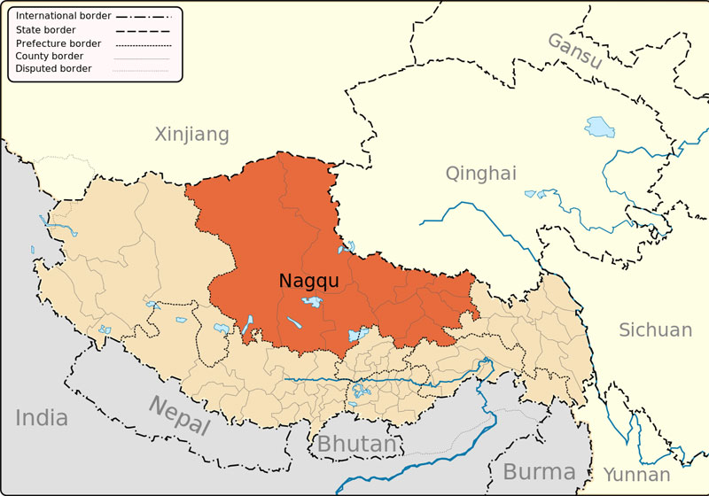 Nagqu Maps, Maps of Nagqu Tibet, NagquTravel Maps
