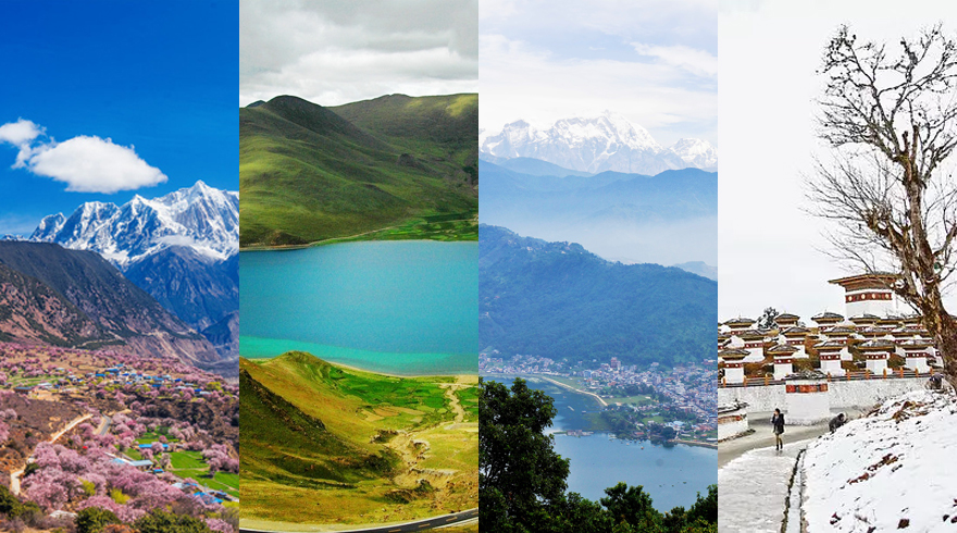 Nepal, Tibet and Bhutan offer featured landscapes and activities in different seasons