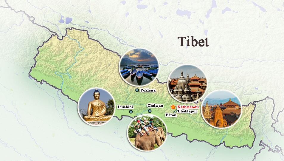 Maps of nepal tibet bhutan 20182019 nepal tourist map gumiabroncs Image collections