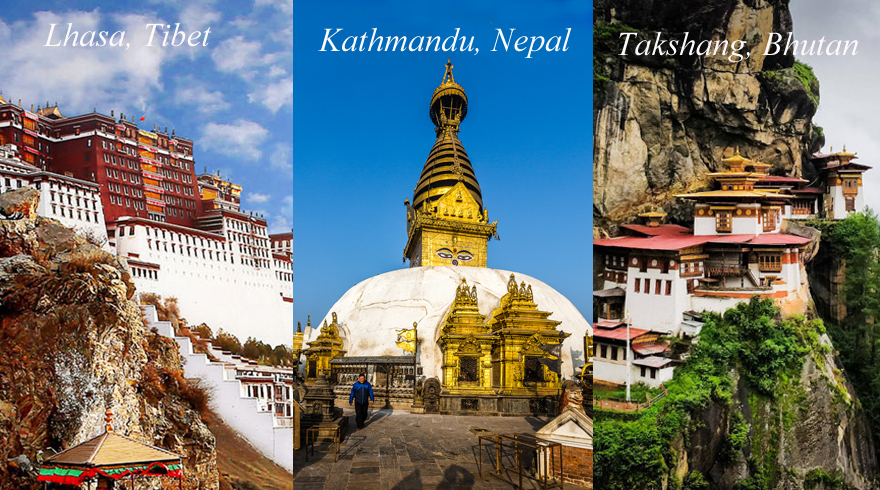 Enjoy the natural and cultural treasures in three mysterious Himalayan kingdoms