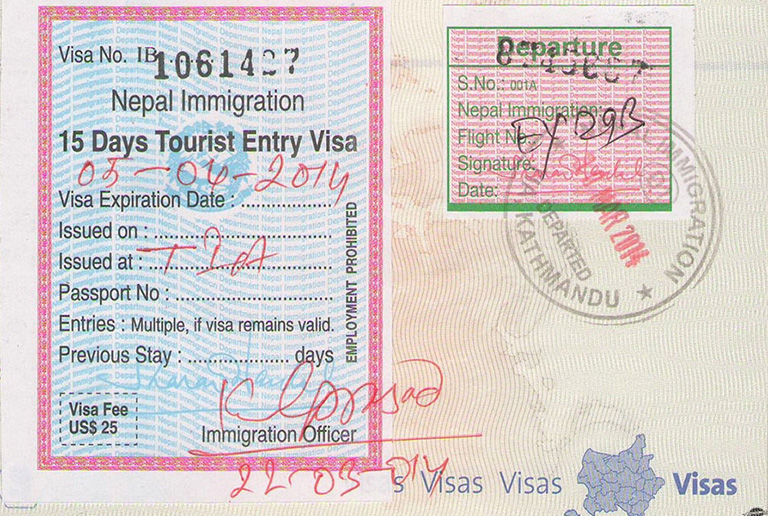 15-days-nepal-visa-of-tia Visa Application Form Nepal Airport on nepal visa application, nepal tourist visa, nepal visa on arrival,
