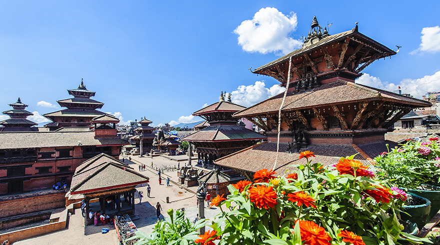 Visit Patan Durbar Square of Kathmandu Valley - World Cultural Heritage Site in A Beautiful Sunny Day
