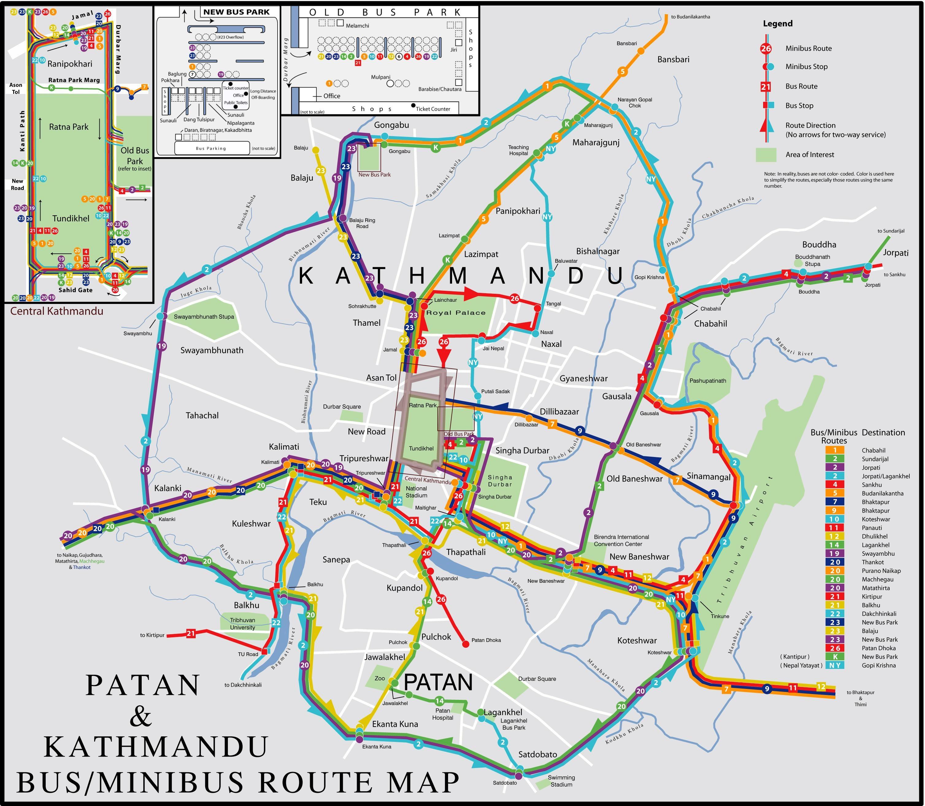 Kathmandu Travel Maps Tourist Map Guide in Kathmandu