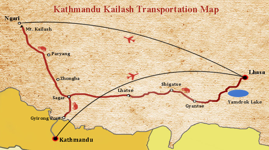 Transfer from Kathmandu to Mount Kailash
