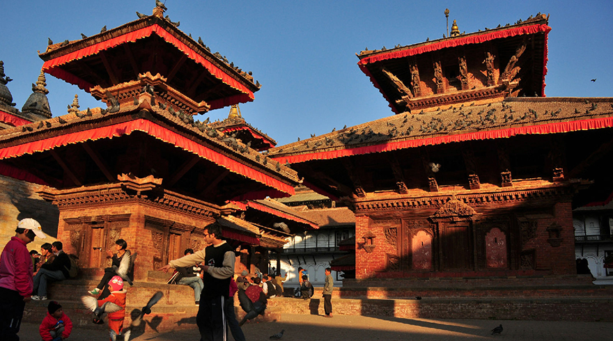 Kathmandu Durbar Square, a World Heritage Culture Site in Kathmandu Valley, served as capital in Nepal