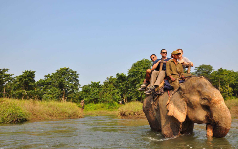 Riding Elephant in Chitwan National Park