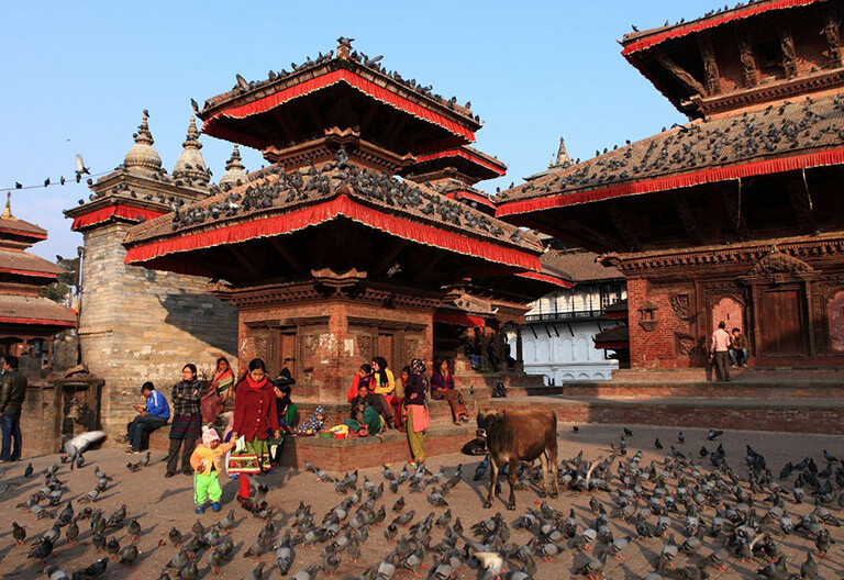 Medieval architecture at Kathmandu Durbar Square