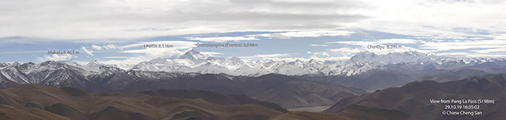 Mount Everest in Shigatse Tibet