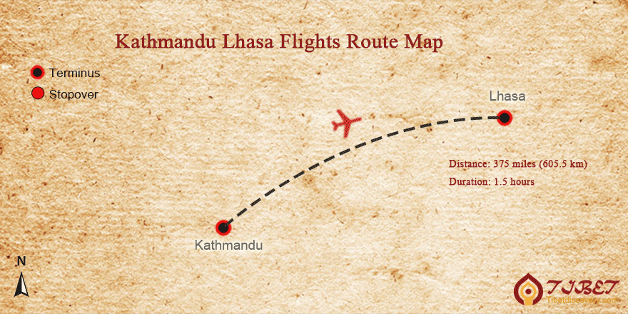 Tibet flight maps popular flights routes to tibet kathmandu lhasa flight map publicscrutiny Choice Image