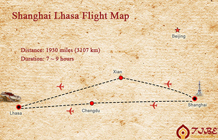 Flights to Lhasa from Shanghai