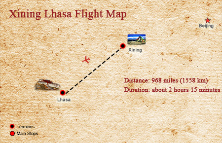 Flighs to Tibet from Xining