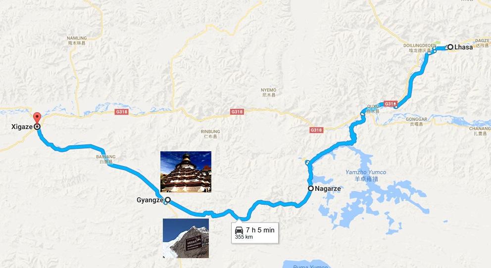 Shigatse Peace Airport, Flight from Shigatse to Chengdu
