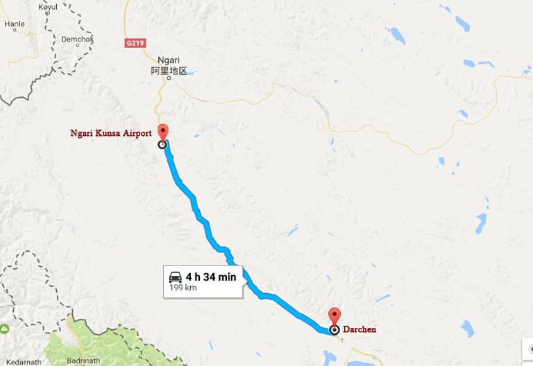 Ngari Gunsa Airport (Ali Kunsha Airport in Tibet), Flights to Ngari