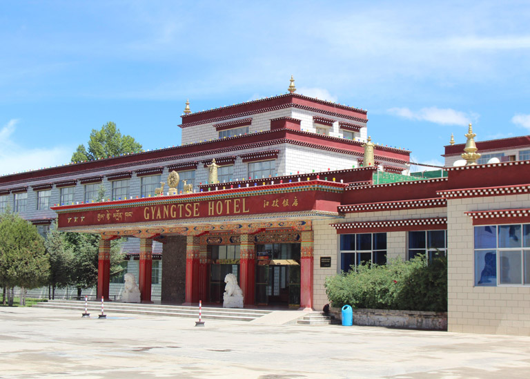 the exterior of Gyantse Hotel