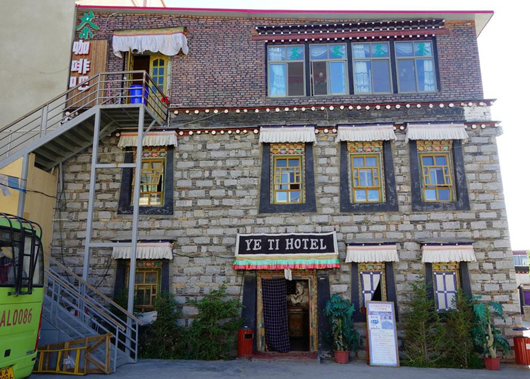 the exterior of Yeti Hotel Gyantse