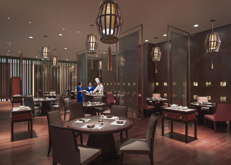 Dining hall of Shangri-La Hotel Lhasa