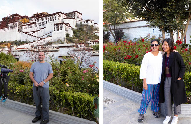 Ines and Her Husband Visited Lhasa Potala Palace during Their Tibet Everest Tour
