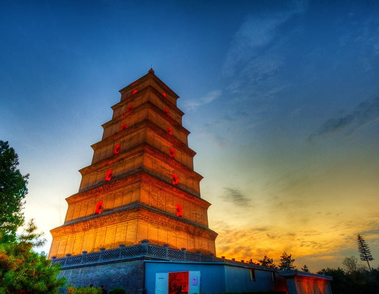 1300-Year-Old Giant Wild Goose Pagoda