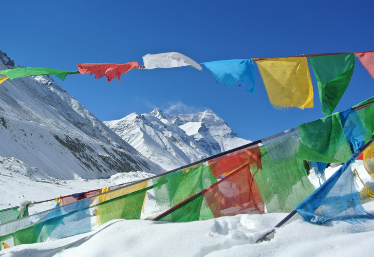 Tibetan Praiyer Flags on Mount Everest