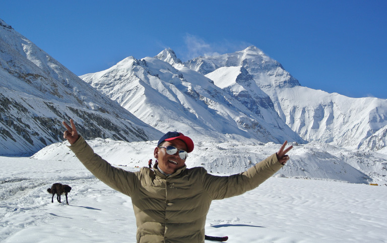 Our Tibetan Guide on Mount Everest