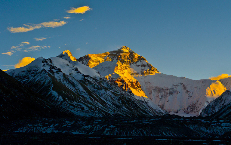 Sunset on Mount Everest