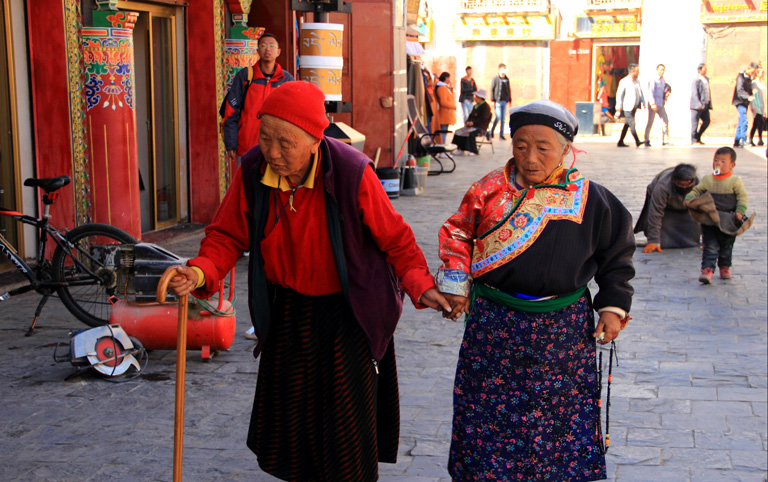 Old Tibetan Women on the Barkhor Street
