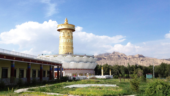 China's Qinghai: owns the largest prayer wheel in the world