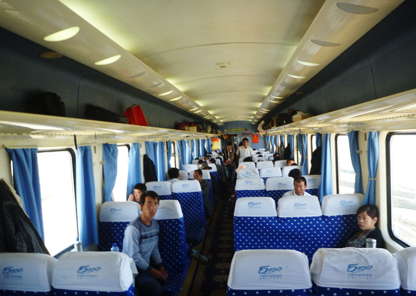 Tibet Trains With Hard Seats Hard Seats On Train To Tibet