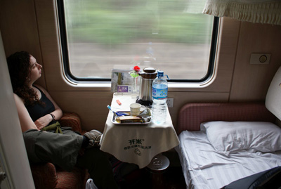 Soft sleeper on Tibet Train