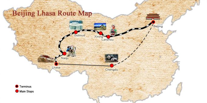 Tibet Railway Maps, Tibet Train Routes Maps, Qinghai Tibet Railway Maps